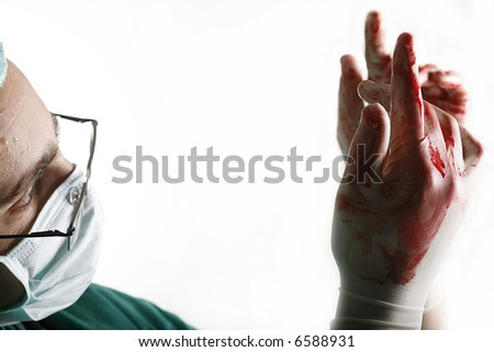Handsome male doctor - stock photo