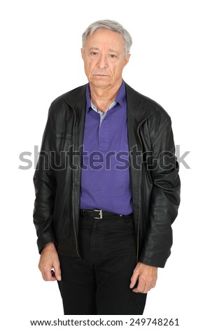 Handsome man doing different expressions in different sets of clothes: sad - stock photo