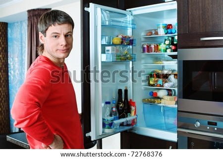 Handsome man having a rest at home. - stock photo