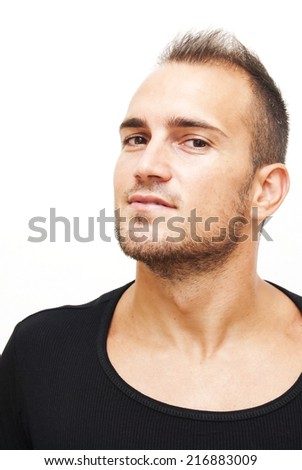 Handsome man over white background