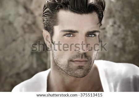 Handsome man portrait
