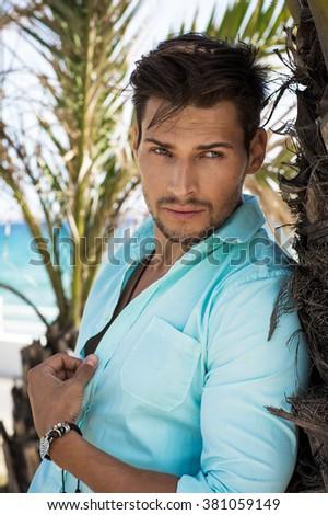 Handsome man portrait - stock photo
