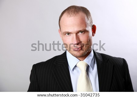 Handsome man's in a suit portrait - stock photo