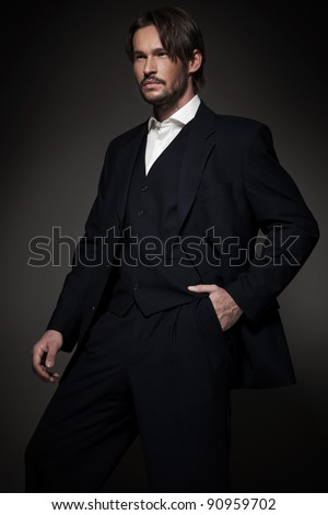 Handsome man wearing glasses - stock photo