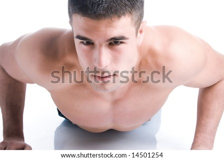 handsome man with athletic body - stock photo