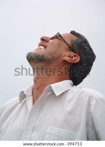 handsome mature man - stock photo