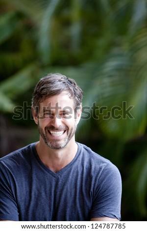 handsome maturing  man - stock photo