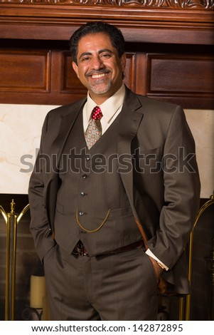 Handsome middle age man portrait. - stock photo