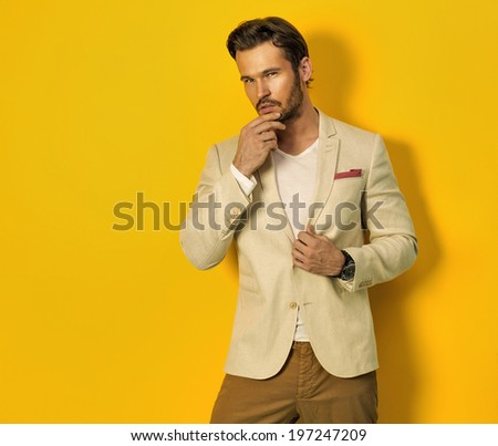 Handsome model - stock photo