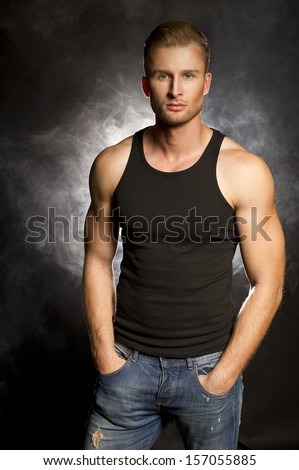 Handsome muscular man