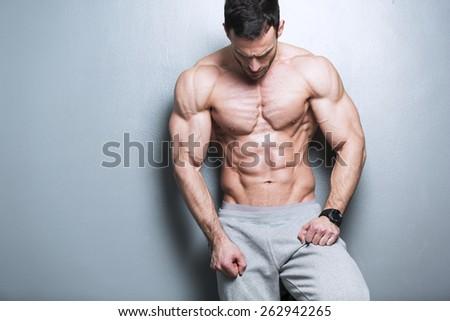 Handsome Muscular Men - stock photo