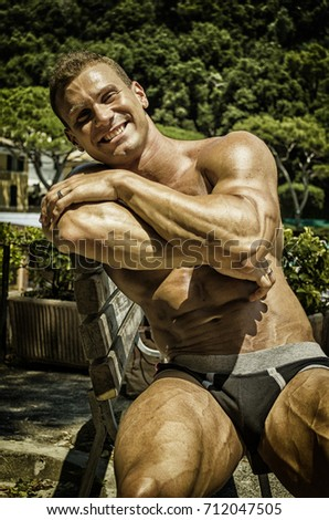 Muscular Outdoor Hunks Spitroasted In The Sun
