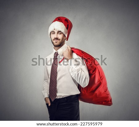 Handsome Santa Claus  - stock photo