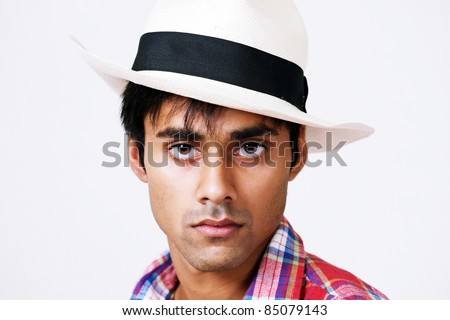 Handsome sexy male model - stock photo