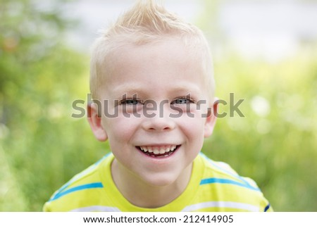Handsome, smiling Young Boy Portrait - stock photo