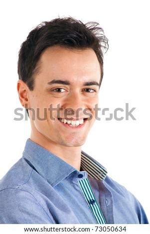 Handsome smiling young man portrait