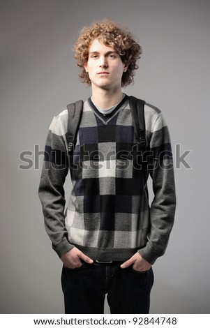 Handsome student - stock photo