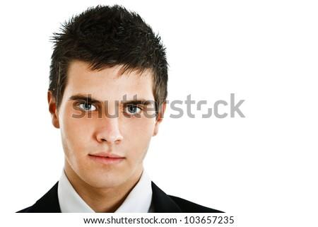 Handsome successful businessman portrait - stock photo