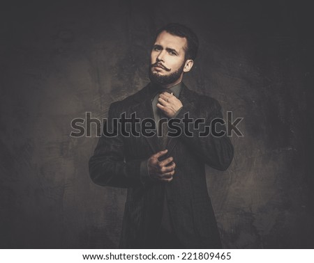 Handsome well-dressed man in jacket  - stock photo