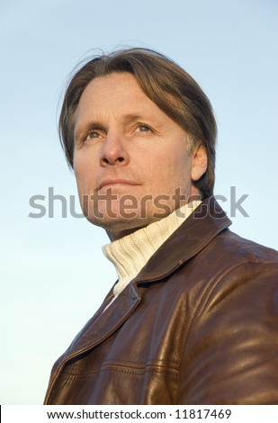 Handsome 43 year old man. - stock photo