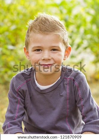 Handsome Young Boy Portrait - stock photo