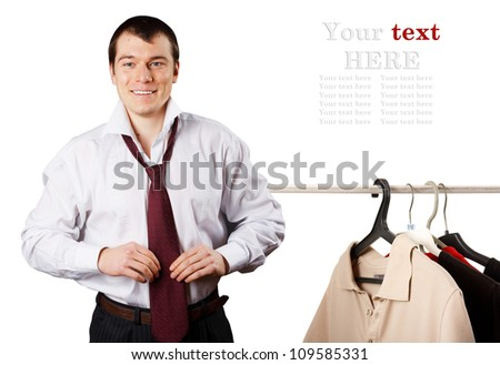 Handsome young business man - stock photo