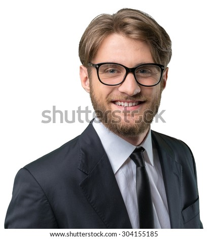 Handsome young businessman in formal wear