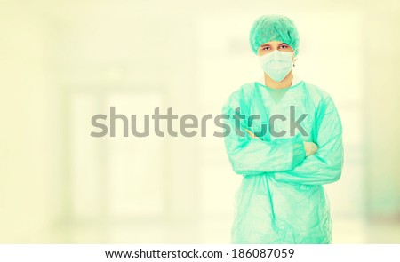 Handsome young doctor - stock photo