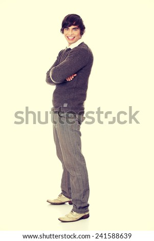 Handsome young man full portrait - stock photo