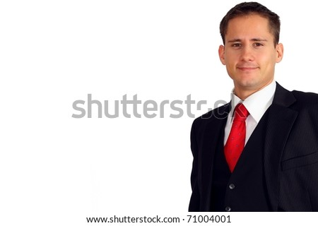 Handsome young man in a suit and west - stock photo