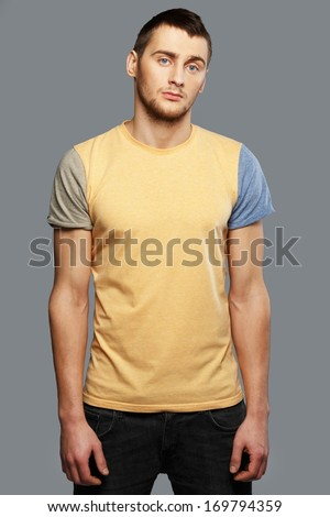 Handsome young man in a t-shirt