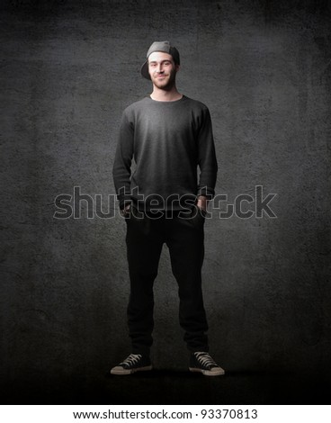Handsome young man in casual clothes - stock photo