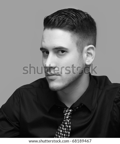 Handsome young man portrait. - stock photo