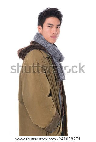 handsome young man posing isolated - stock photo