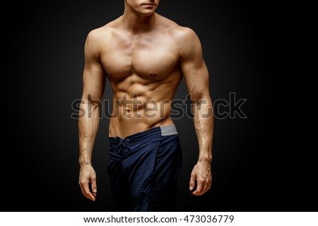 Handsome young man's torso