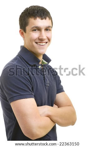 Handsome young man smiling. - stock photo