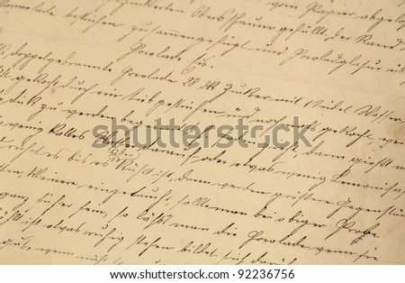 handwriting - stock photo