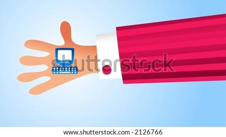 handy computer - stock photo