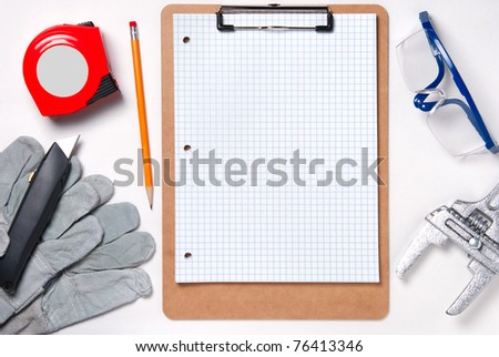 Handyman honey-do list - stock photo