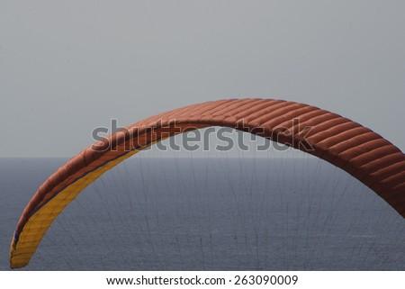 Hang Gliding over La Jolla/Para Sailing/Late afternon Para gliding over La Jolla California - stock photo