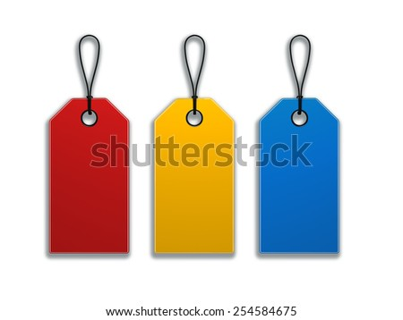 Hang-tag.Cliping path include - stock photo