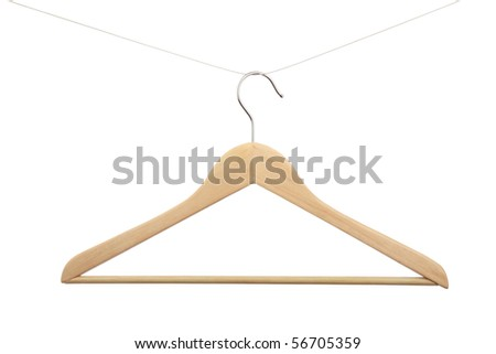 Hanger for clothes it is isolated on white a background - stock photo