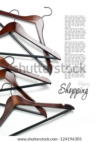 Hanger isolated on the white background - stock photo