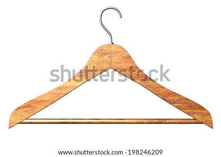 Hanger. isolated white background. 3d.