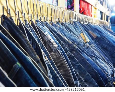 Hanger jeans - stock photo