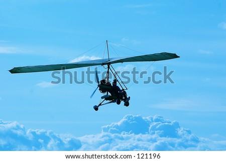 hanggliders - stock photo