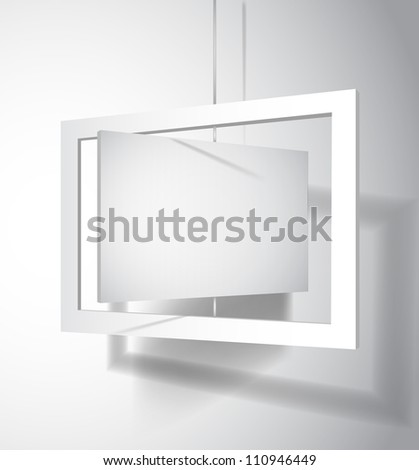 Hanging board template:raster version - stock photo
