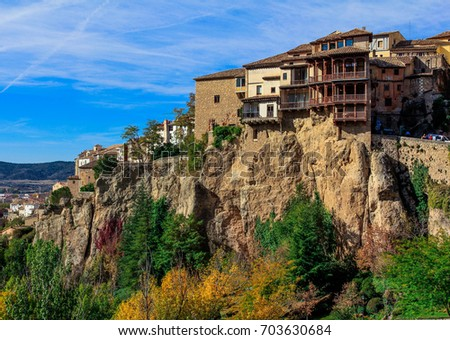 Hanging Houses Of Cuenca, Spain. Coldagas House.