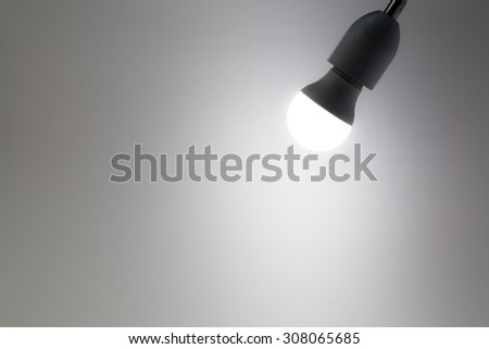 hanging  lamp with white wall background - stock photo