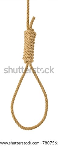 Hanging noose rope [isolated on white] - stock photo